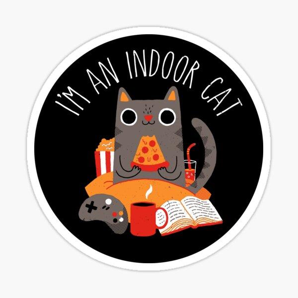 Indoor Cat Sticker
