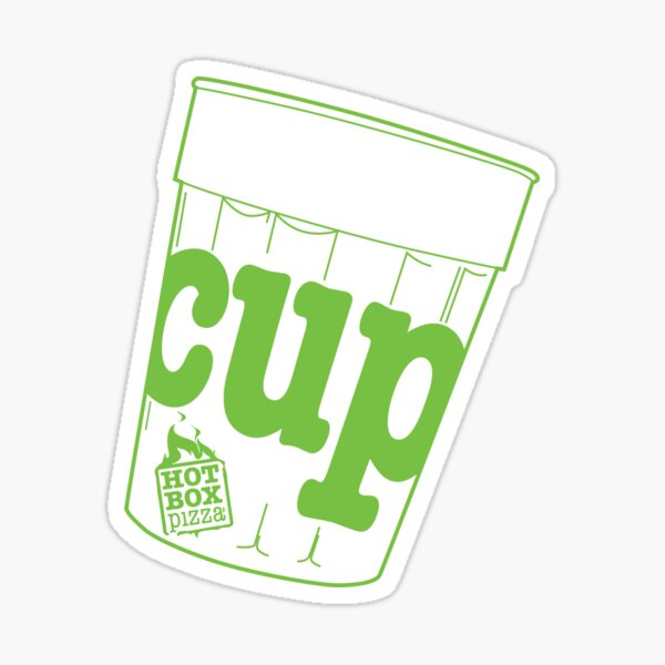 HotBox Cup-Lime Green Sticker
