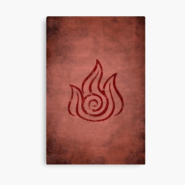 Firebending Logo · Distressed Canvas Print