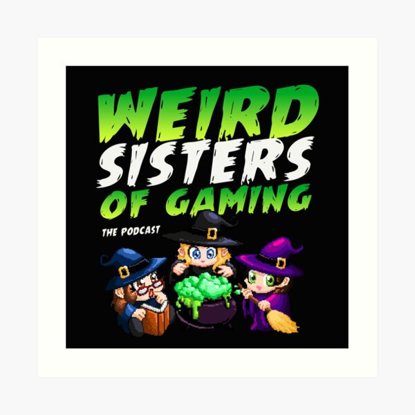 Weird Sister of Gaming Cover Art Art Print