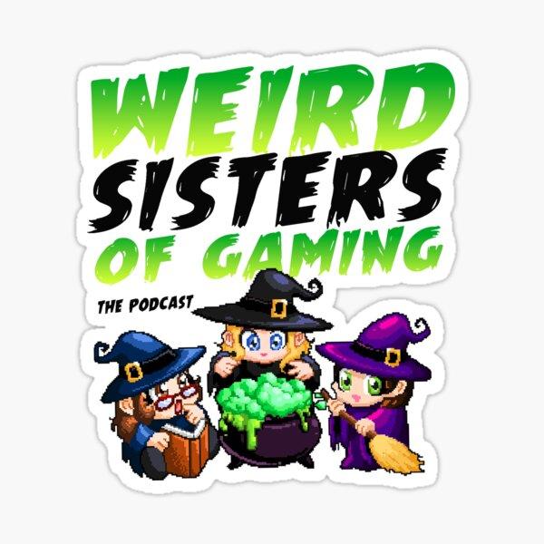 Weird Sister of Gaming Cover Art Sticker