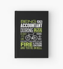 Tax Season Gift CPA Accountant Tax Preparers  Hardcover Journal