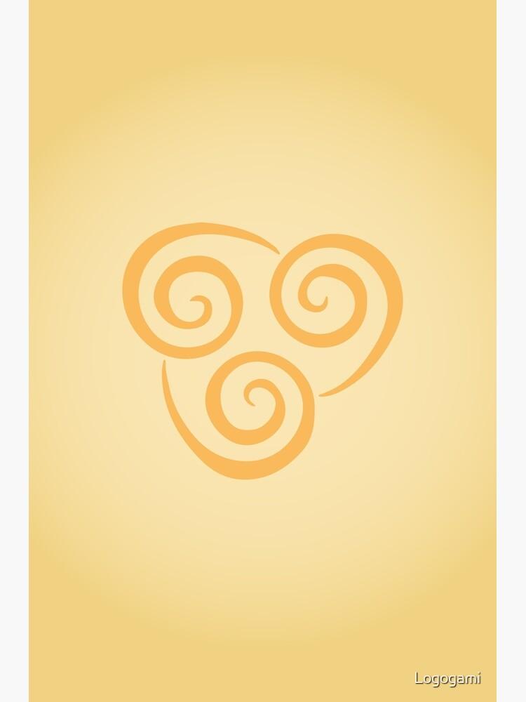 Airbending Logo by Logogami