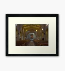 HDR of a Church Interior Framed Print