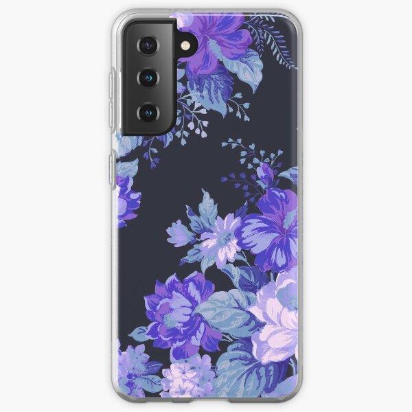 Midnight Floral Pattern Samsung Galaxy Soft Case