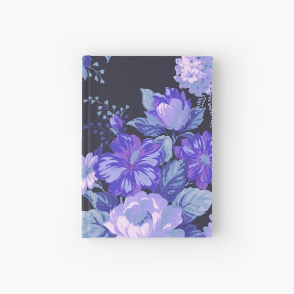 Midnight Floral Pattern Hardcover Journal