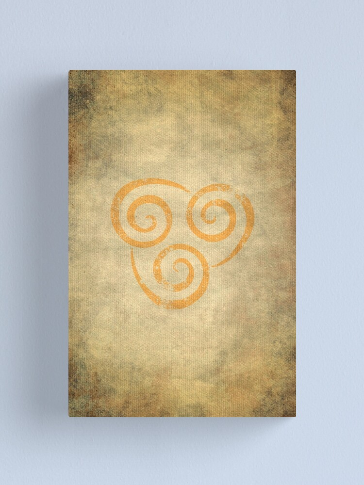 Alternate view of Airbending Logo · Distressed Canvas Print