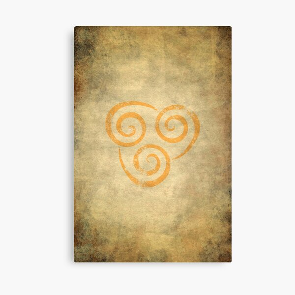 Airbending Logo · Distressed Canvas Print