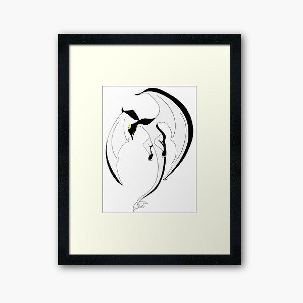 The Penguin-Dragon (Second evolution) Framed Art Print