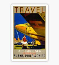 Vintage Travel Poster Restored Sticker