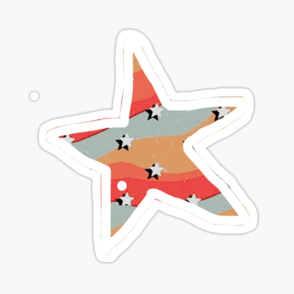 retro star  Sticker
