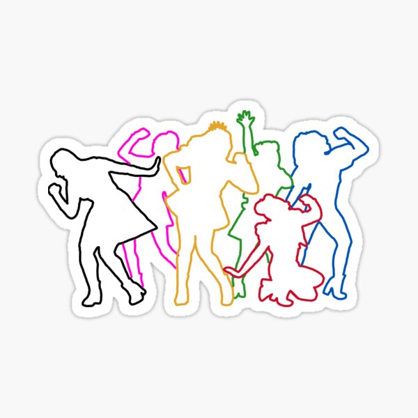 SIX The Musical Queens Sihlouettes Sticker