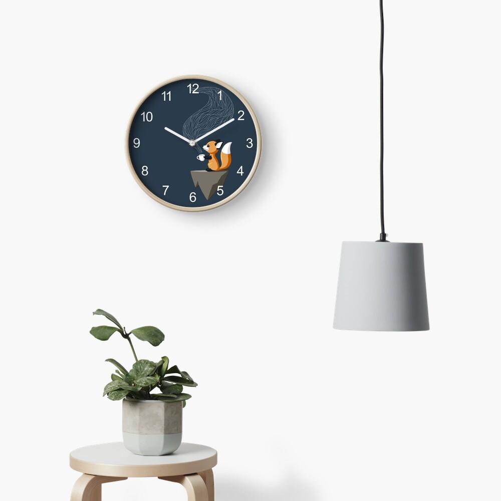 Fox Tea Clock