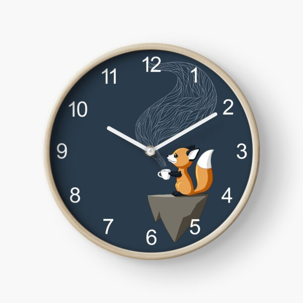 Fox Tea Clock