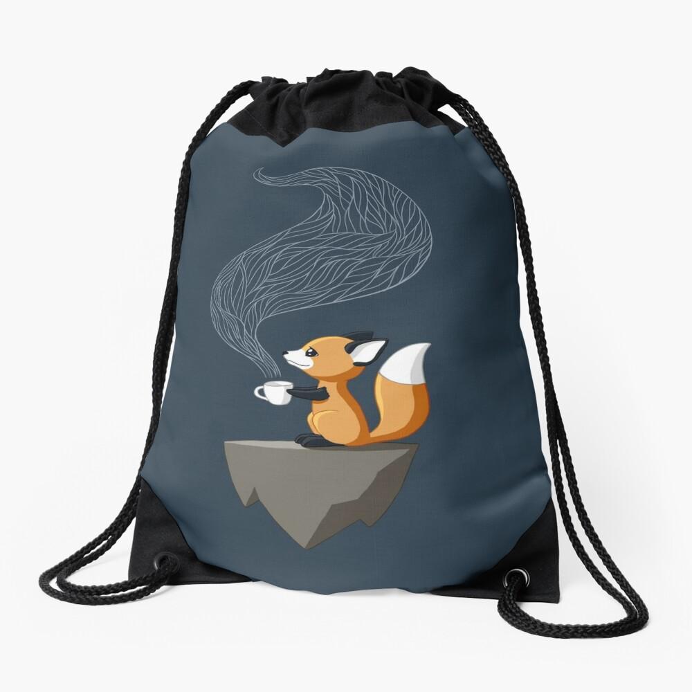 Fox Tea Drawstring Bag
