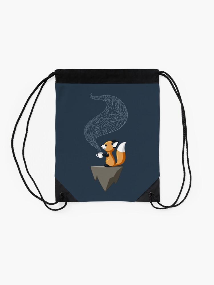 Alternate view of Fox Tea Drawstring Bag