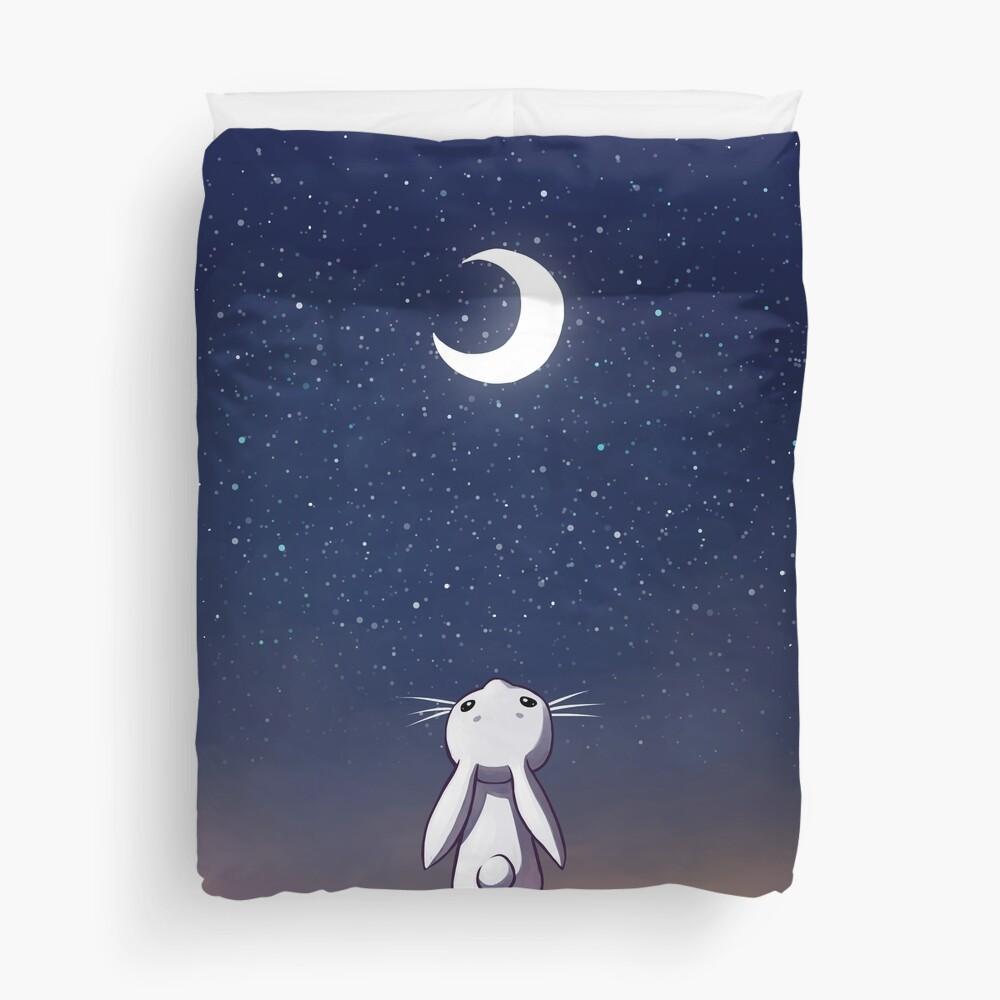 Moon Bunny Duvet Cover