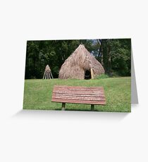 Natchez Indians Home and Granary Greeting Card