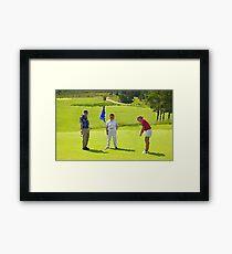 Golf Day Framed Print
