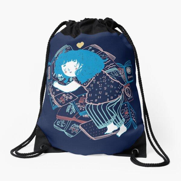 Books lover Drawstring Bag
