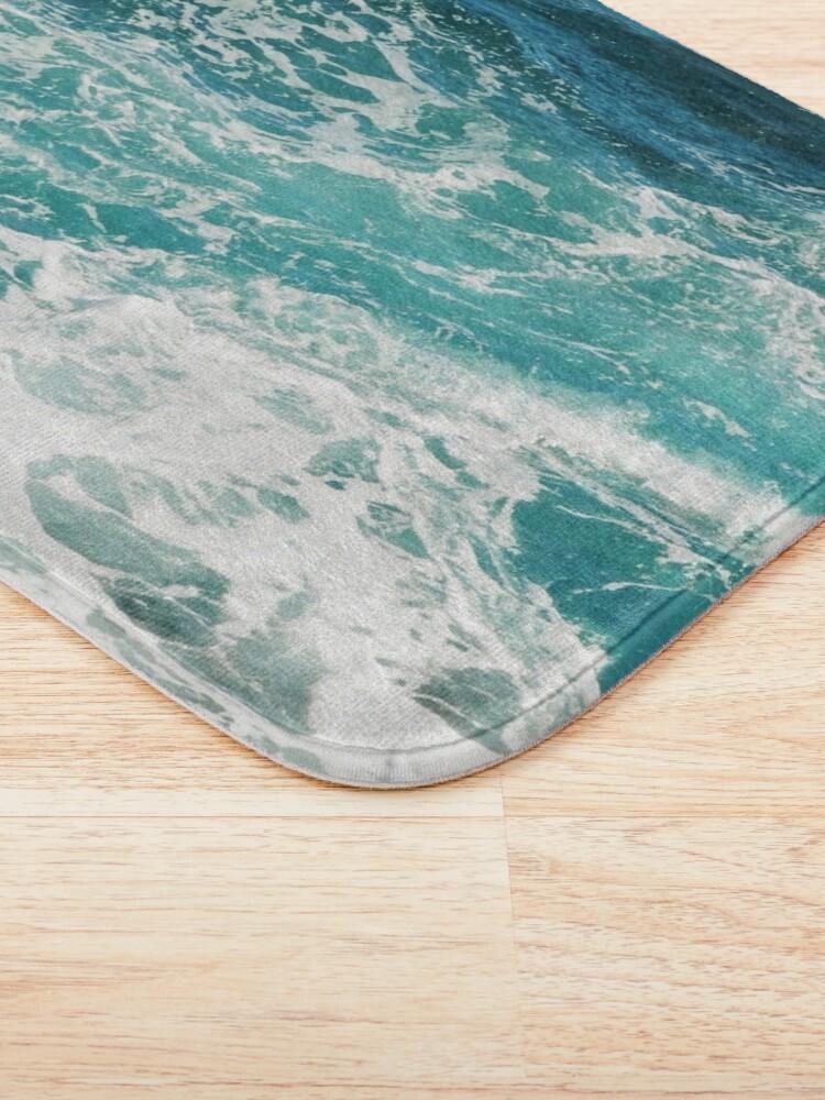 Alternate view of Blue Ocean Waves  Bath Mat