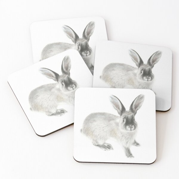 Cute Rabbit Coasters (Set of 4)
