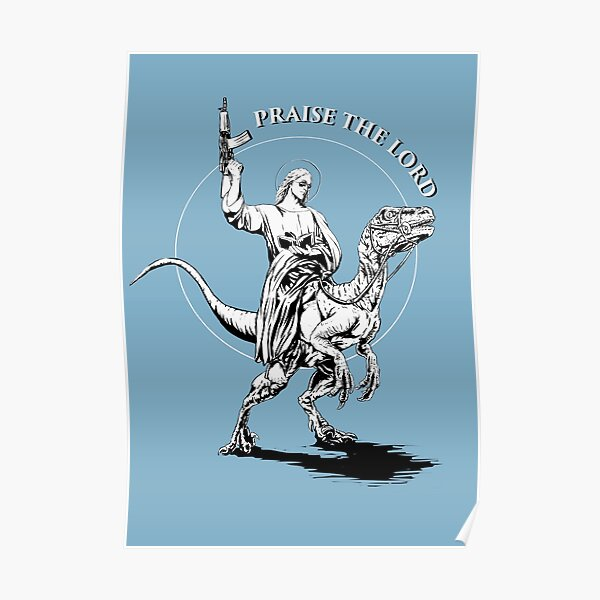 Jesus dino rider Poster