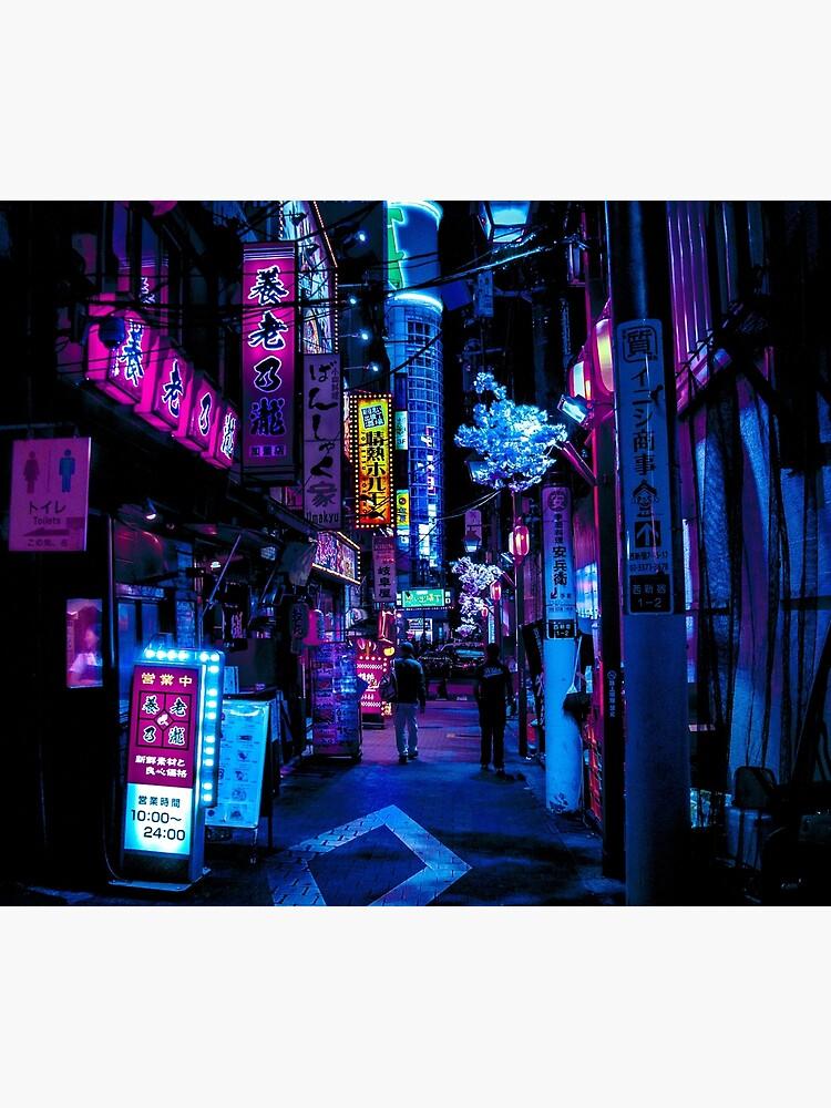 Blue Tokyo Alleys by HimanshiShah