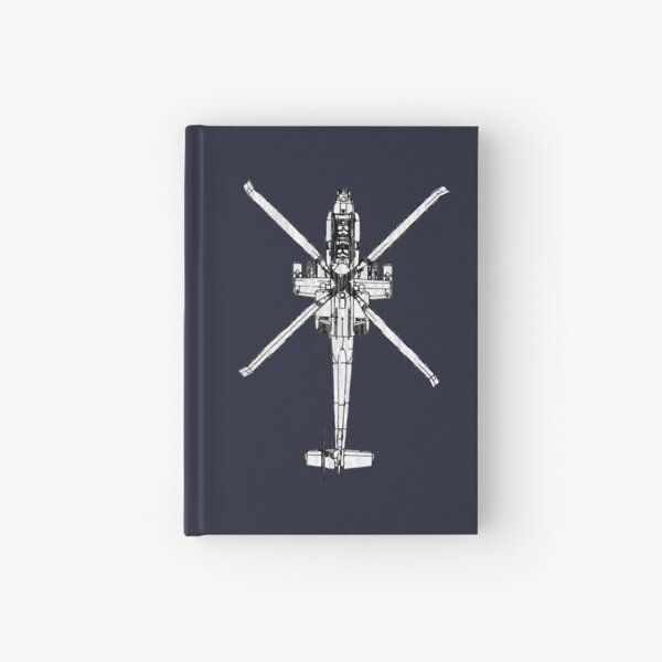 Apache AH-64 Helicopter  Hardcover Journal