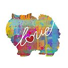 Pomeranian Love - A Bright and Colorful Watercolor Style Gift by traciwithani
