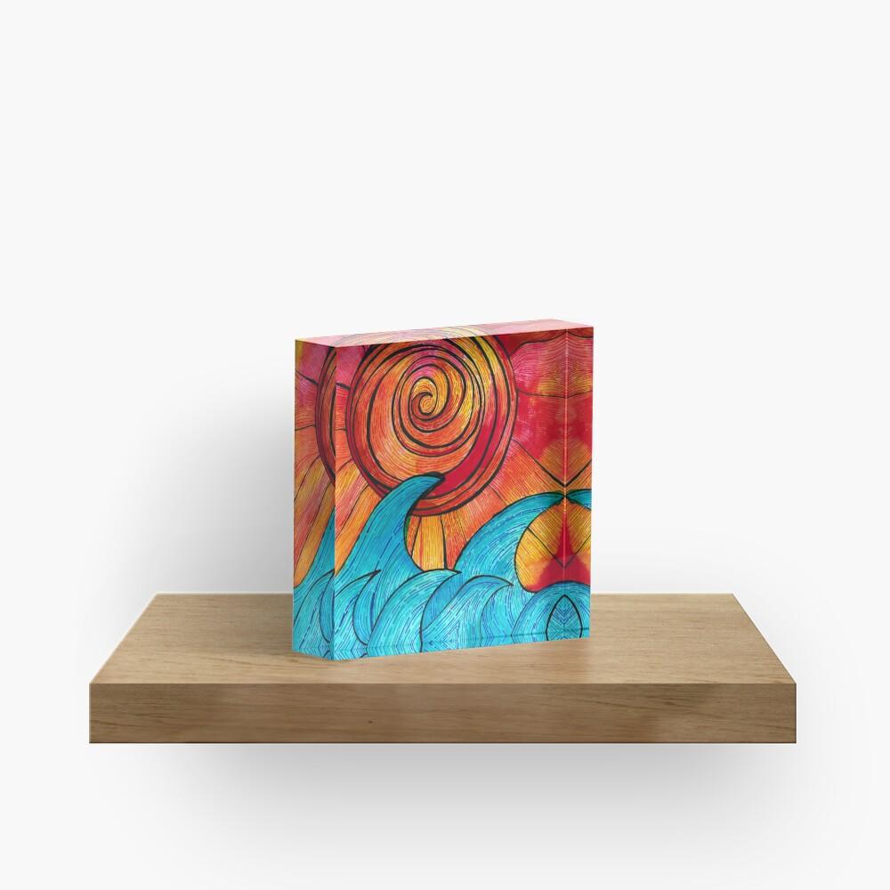 Sun Waves Summer Love Acrylic Block