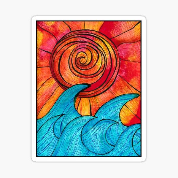 Sun Waves Summer Love Sticker