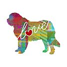 Saint Bernard / St. Bernard Love - A Bright and Colorful Watercolor Style Gift by traciwithani