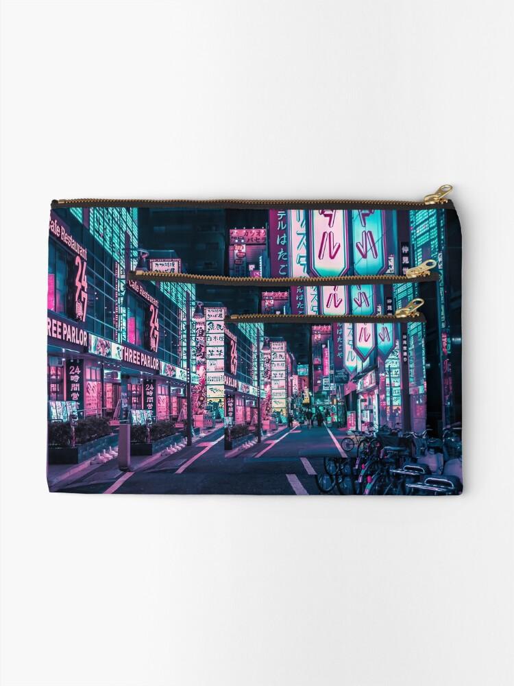 Alternate view of Tokyo - A Neon Wonderland Zipper Pouch