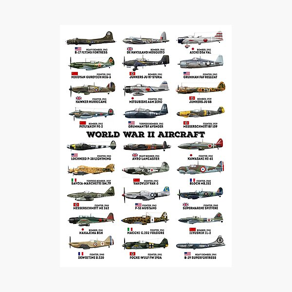 World War II Aircraft Photographic Print
