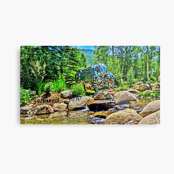 Buffalo, John Denver Park, Roaring Fork River, Aspen Metal Print