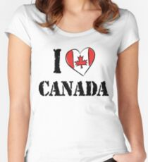 I Love Canada Women's Fitted Scoop T-Shirt