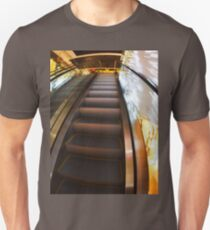 Escalator in the big shopping center in the movement T-Shirt