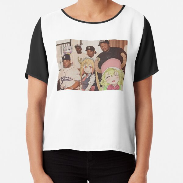 Maid Dragons and their crew Chiffon Top