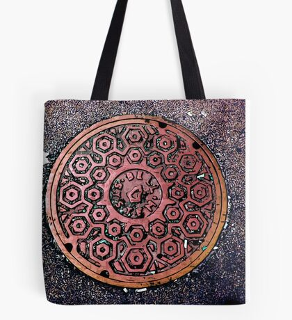 manhole cover Tote Bag