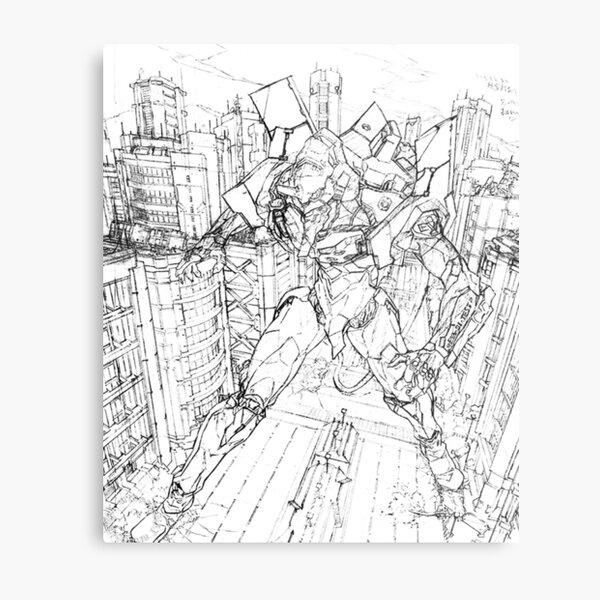 Neon Genesis Evangelion - Unit One - Destruction Metal Print
