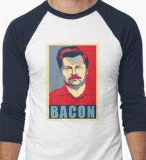 Camiseta ¾ bicolor para hombre Ron espero swanson