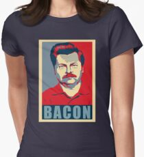 Ron hope swanson  Women's Fitted T-Shirt