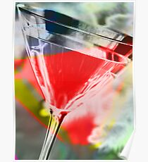 martini red Poster