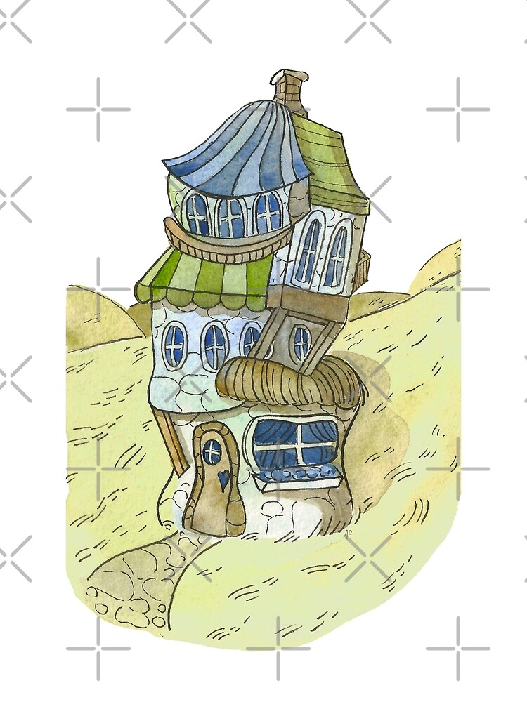 Watercolor Fantasy Cottage by annieparsons