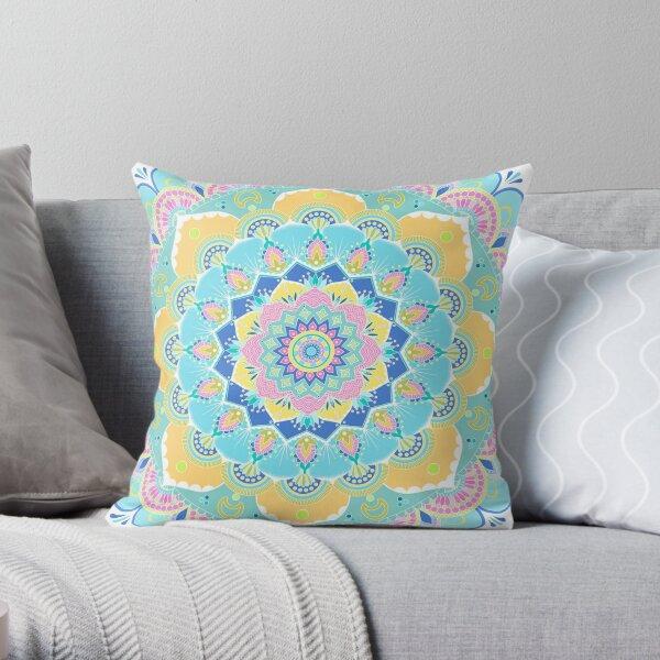 Pastel Mandala Throw Pillow