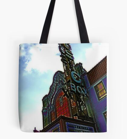 music box movie theater, chicago Tote Bag