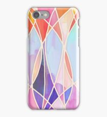 Purple & Peach Love - abstract painting in rainbow pastels iPhone Case/Skin
