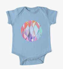 Purple & Peach Love - abstract painting in rainbow pastels One Piece - Short Sleeve