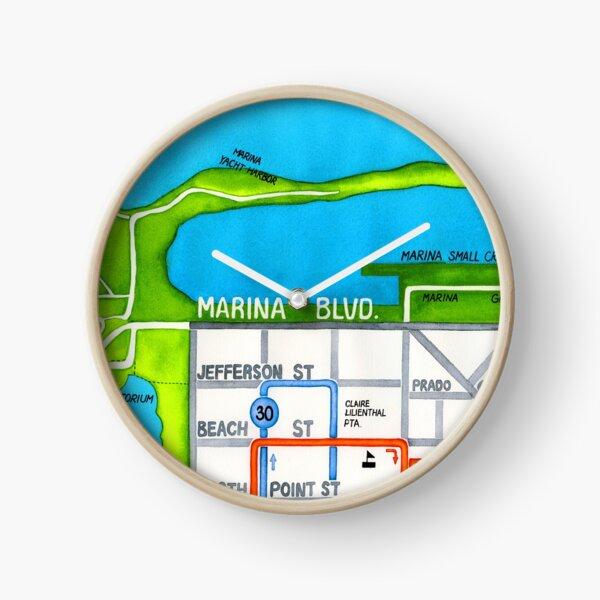 San Francisco map - Marina Clock